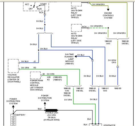 For A Dodge Ram 2500 Alternator Wiring Diagram by 1993 Dodge W250 Wiring Diagram Wiring Diagram
