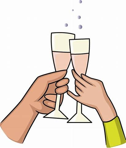 Toast Anniversary Clipart Clip Toasting Engagement Cliparts