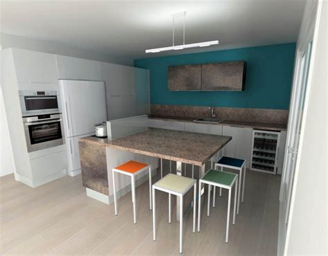 HD wallpapers cuisine moderne bleu et blanche