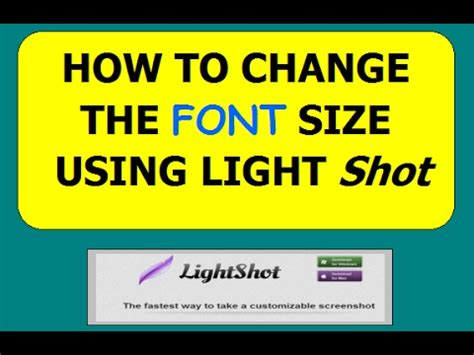 How To Lightshot Change Font Size  Youtube