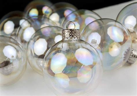 iridescent glass  ornament balls mm
