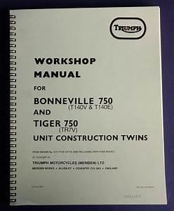 Triumph T140v    Tr7 Service Manual  U0026 Workshop Manual