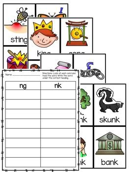 ng or nk worksheets and activities by annand tpt