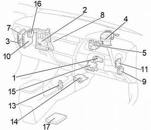 Toyota Corolla  2013 - 2018  - Fuse Box Diagram
