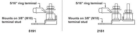 Blue Seas Terminal Fuse Block Battery Stud