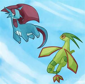 Salamence and Flygon by chibitracydoodles on DeviantArt