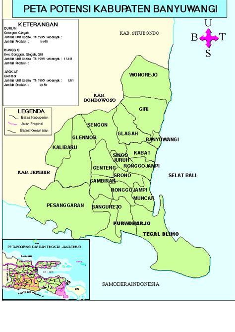 potential map  banyuwangi regency