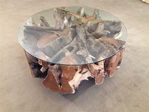 Tisch Rund 100 Cm : wohnzimmertisch baumwurzel der tischonkel ~ Whattoseeinmadrid.com Haus und Dekorationen