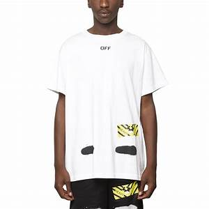 e73a03ff331df5 off white c o virgil abloh diagonals spray t shirt in white for men lyst
