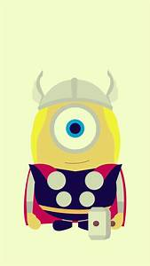 Funny Thor Minion Avengers iphone 6 plus wallpaper HD ...