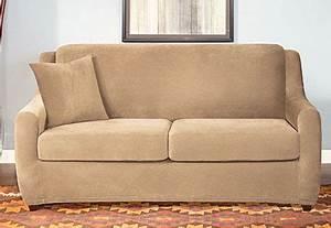 Sure Fit Stretch Pique 2 Seat Sleeper Sofa