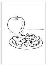 Coloring Apple Slices sketch template