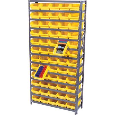 quantum storage single side metal shelving unit