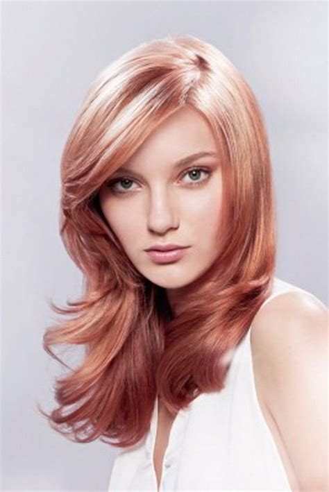 braune haare mit blonden strähnen bilder rote str 228 hnen im blonden haar