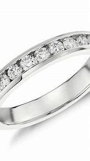 Channel Set Diamond Ring in 14k White Gold (1/2 ct. tw ...
