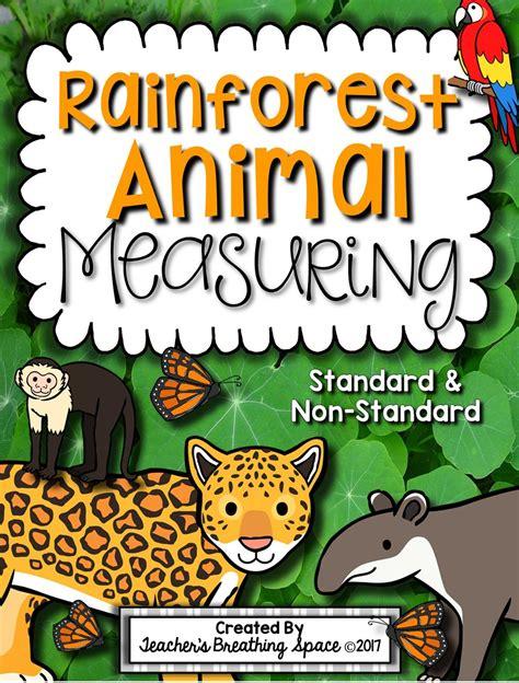jungle animals preschool rainforest animal measuring book and measurement math 132