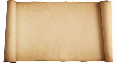Parchment Scroll Blank Paper Clipart Template Background