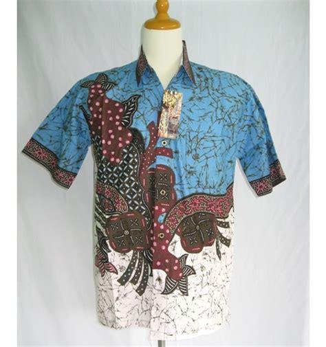 baju batik pria modern biru modern batik sekar
