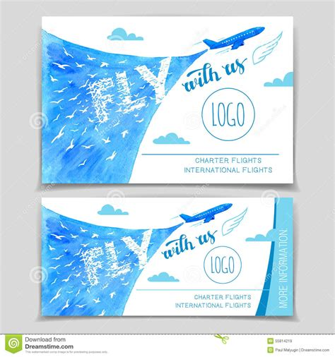 fly   airline flyer design stock vector image