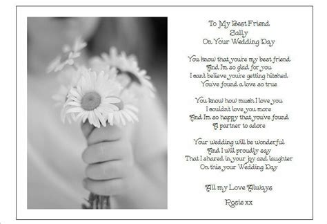 friend   wedding day unique personalised
