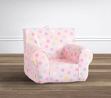 ruffle anywhere chair slipcover only pink multi dot anywhere chair pottery barn