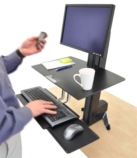 ergotron sit stand desk adjustment ergotron 33 344 200 workfit s adjustable standing desk