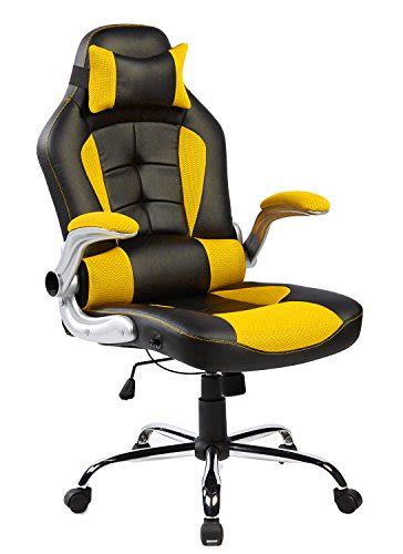 high back desk chair merax high back ergonomic pu leather office chair racing