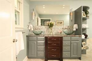 his and hers sinks contemporary bathroom With kitchen cabinets lowes with his and hers wall art