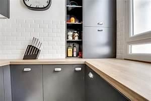 Plan De Travail Bois Sur Mesure : plan de travail en bois coffrage sur mesure cuisishop ~ Premium-room.com Idées de Décoration