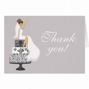 chic pink modern bride bridal shower thank you cards With thank you cards for wedding shower