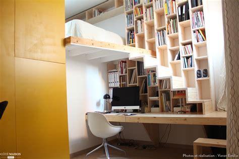 cr 233 ation d un meuble bureau biblioth 232 que escalier veran emilie c 244 t 233 maison