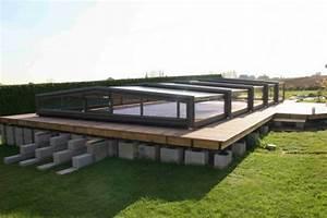 Piscine Hors Sol Acier Semi Enterrée : infos sur piscine semi enterree avec abri arts et voyages ~ Premium-room.com Idées de Décoration