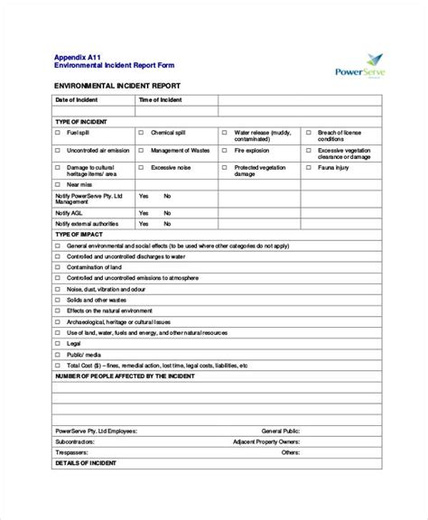 fire incident investigation form 39 incident report exles sles pdf doc pages