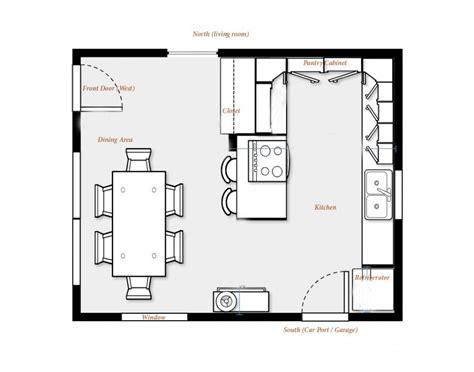 Kitchen Floor Plans  Brilliant Kitchen Floor Plans With