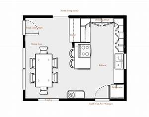 kitchen floor plans brilliant kitchen floor plans with With kitchen dining room design layout