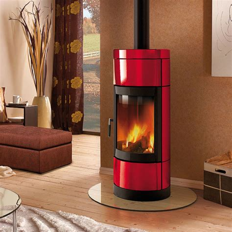 Modern Above Kitchen Cabinet Decor by La Nordica Wood Burning Stoves