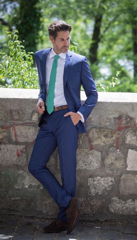 blauer anzug the nines herrenanzug