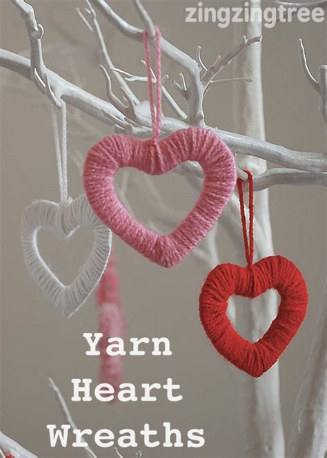simply stylish easy wool heart wreath decorations