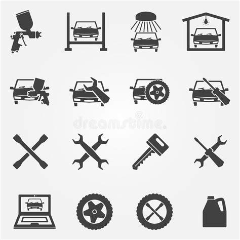 auto service and repair icon set stock vector image 48591890