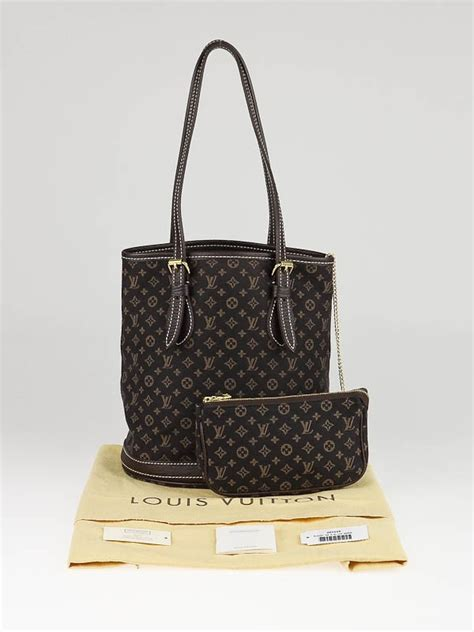 louis vuitton ebene monogram mini lin bucket pm bag