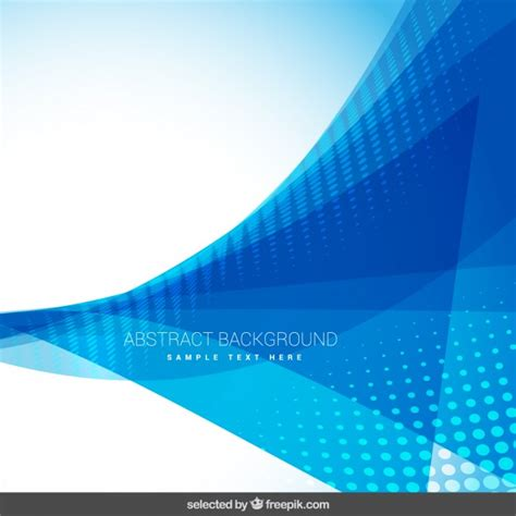 Abstract Blue Shapes Background by Abstract Background With Blue Shapes Vector Free