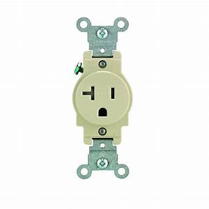 Leviton 20 Amp Commercial Grade Tamper Resistant Single