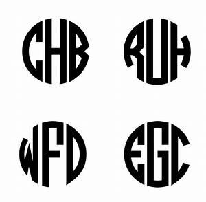 unique three letter circle monogram stencil i39ll do it With monogram letter stencils free