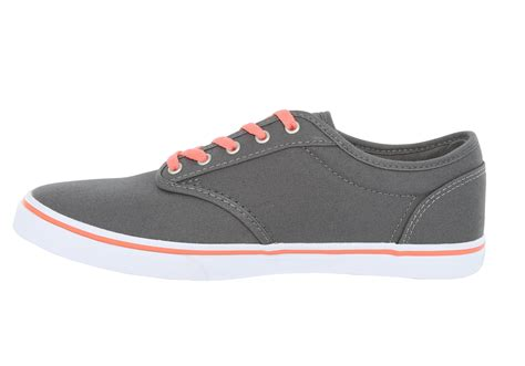 Womens Vans Atwood Low Canvas Gray/coral