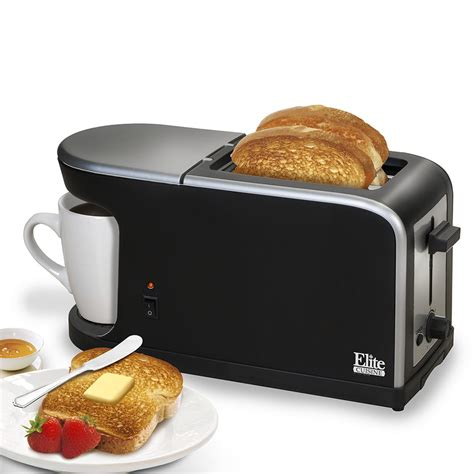Single Slice Toaster by Elite Cuisine Breakfast Station 2 Slice Toaster And