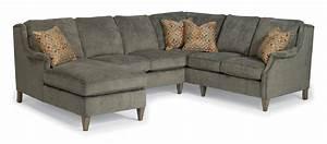 Flexsteel zevon three piece sectional sofa with laf chaise for Flexsteel sectional sofa with chaise