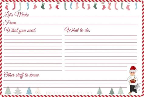 Type And Print Free by Free Printable Recipe Cards From Pco