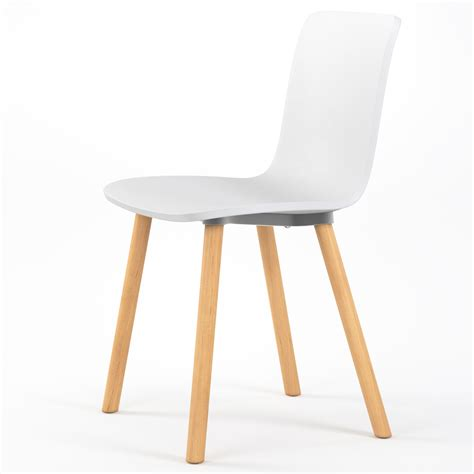 studio plastic modern dining chair in white