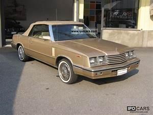 Chrysler Le Baron Cabriolet : 1989 chrysler le baron convertible car photo and specs ~ Medecine-chirurgie-esthetiques.com Avis de Voitures
