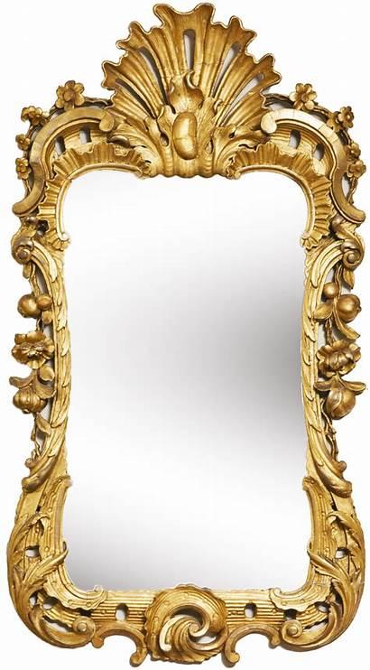 Mirror Frame Golden Clipart Transparent Gold Clip
